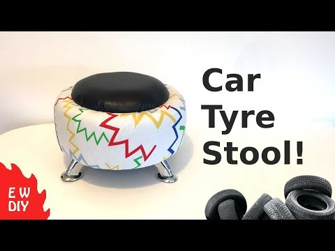 Car Tyre Stool