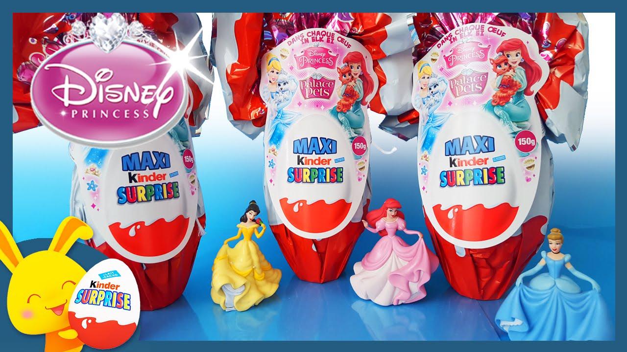 Maxi Oeufs Surprises Kinder   Princesses Disney   Raiponce   Touni Toys    YouTube