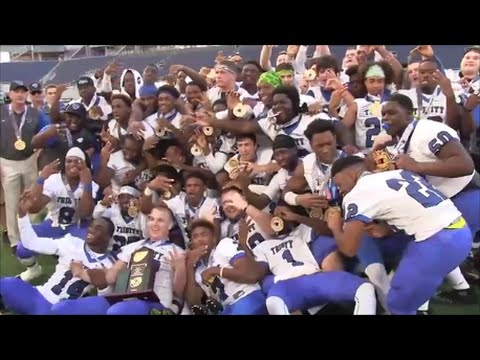 Trinity Christian from Jacksonville wins 3rd straight 3A Football State Championship