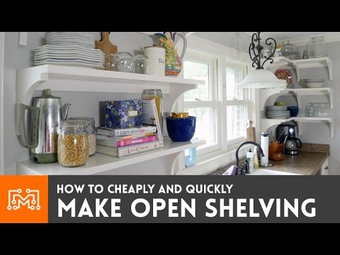 Open shelving for your kitchen // How-To