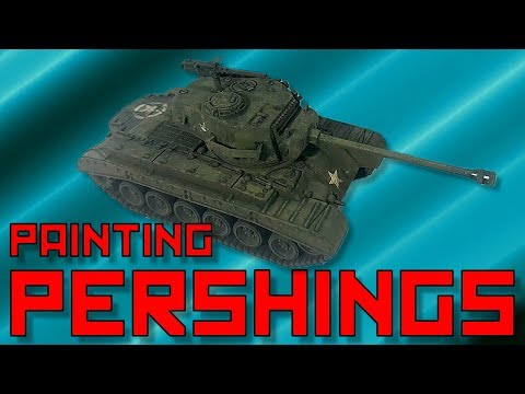 Painting FoW Pershings [15mm]