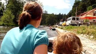 Raften op de Moldau van Vyssi Brod naar Rozmberk nad Vltavou