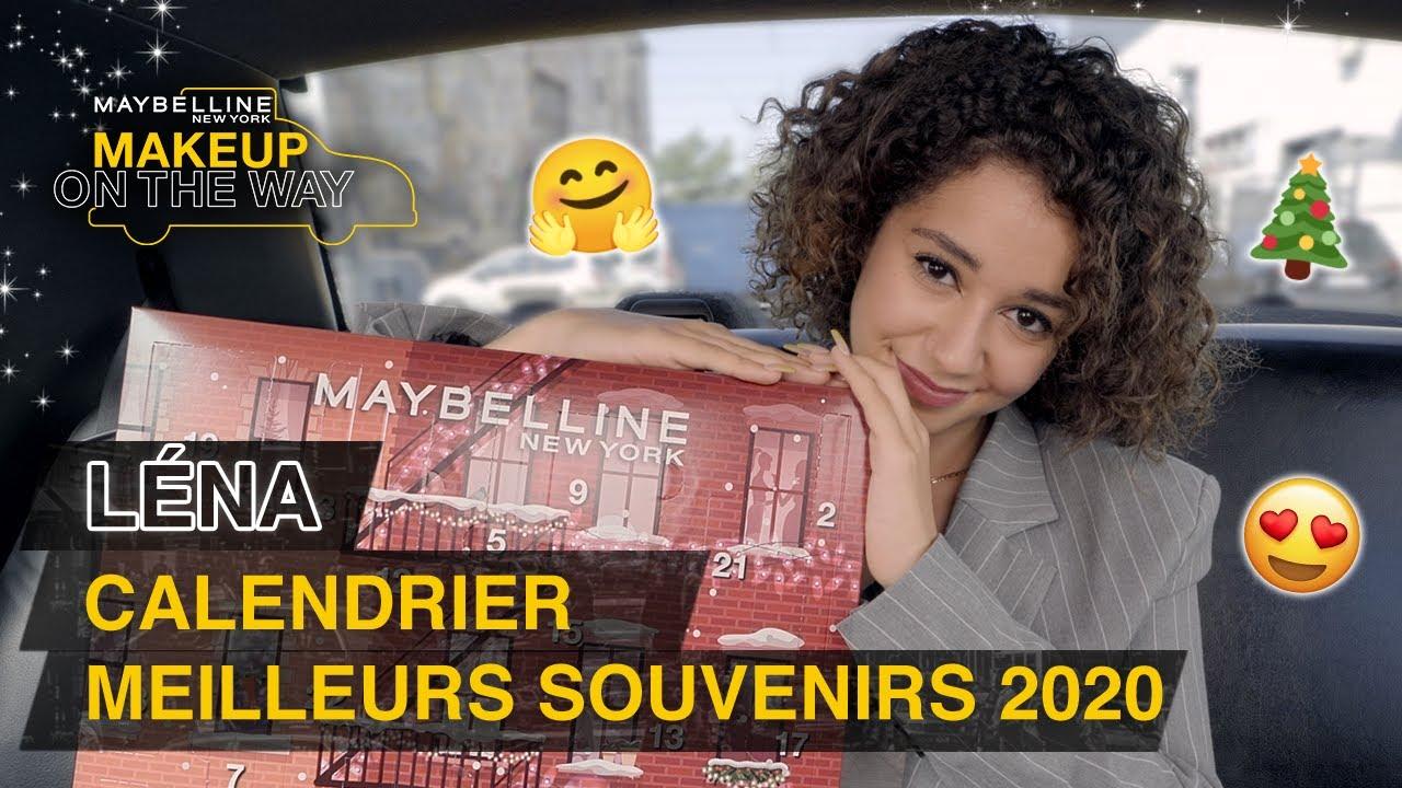 LÉNA SITUATIONS remplit le CALENDRIER de l'AVENT Maybelline 2020 🎄💛  | Makeup On The Way #25