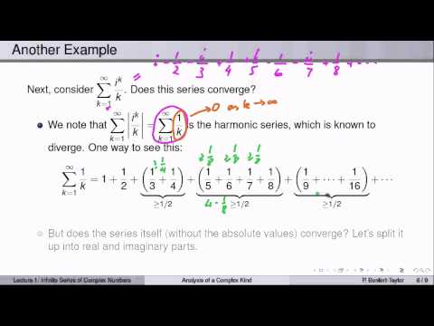 Week6Lecture1: Infinite series of complex numbers