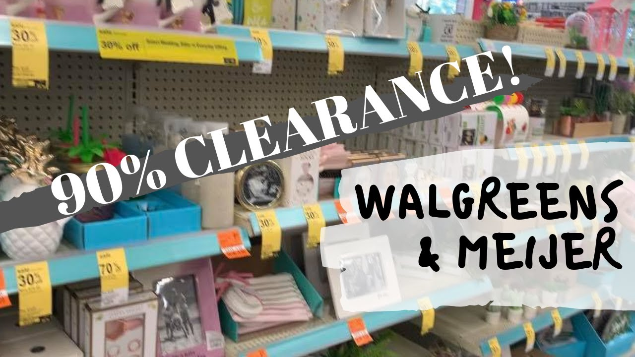 Meijer 90 Off Christmas 2021 90 Off Clearance Walgreens And Meijer Youtube