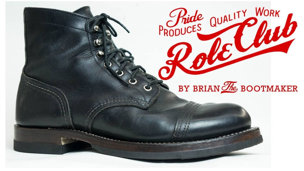 red wing iron ranger resole 27 youtube