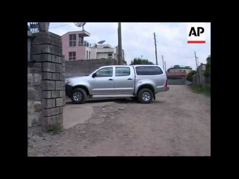 Exteriors of Chinese oil co. offices in Addis Ababa in wake of attack
