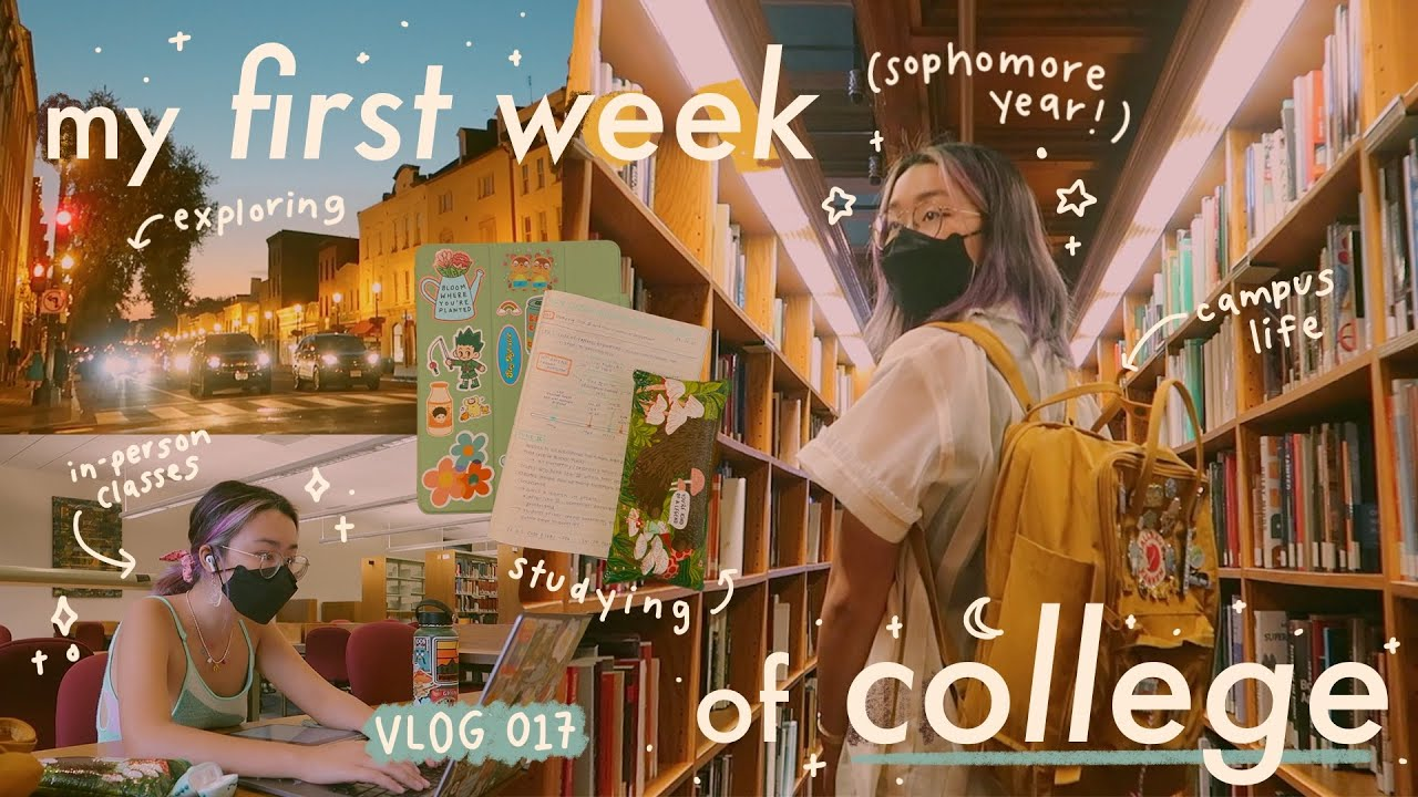 Download a week in my life: first day of college, campus life, & the study grind // vlog 017