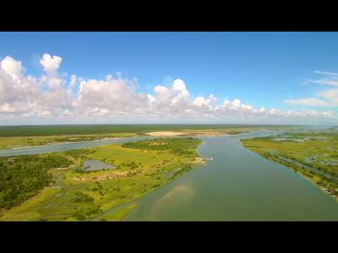 Fort Matanzas Florida River Inlet Aerial Drone Video