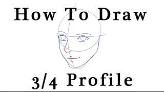 Audio Tutorial: Easy How to Draw a Female 3/4 Profile