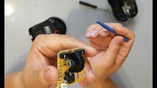 ремонт компьютерной мыши,глючит колёсико прокрутки.