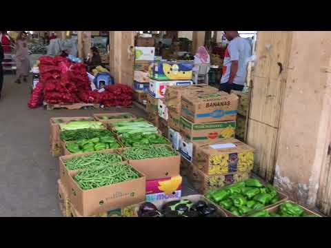 Fruit vegetables & Meat Market in medina Sudia