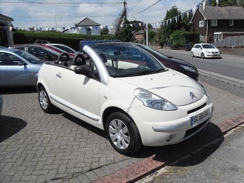 2006 citroen c3 pluriel latte convertible 01980 610231 bourne valley of porton youtube. Black Bedroom Furniture Sets. Home Design Ideas