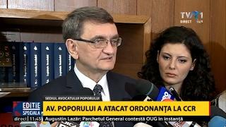 Avocatul Poporului a atacat la CCR ordonanţa de urgenţă privind modificarea Codurilor Penale