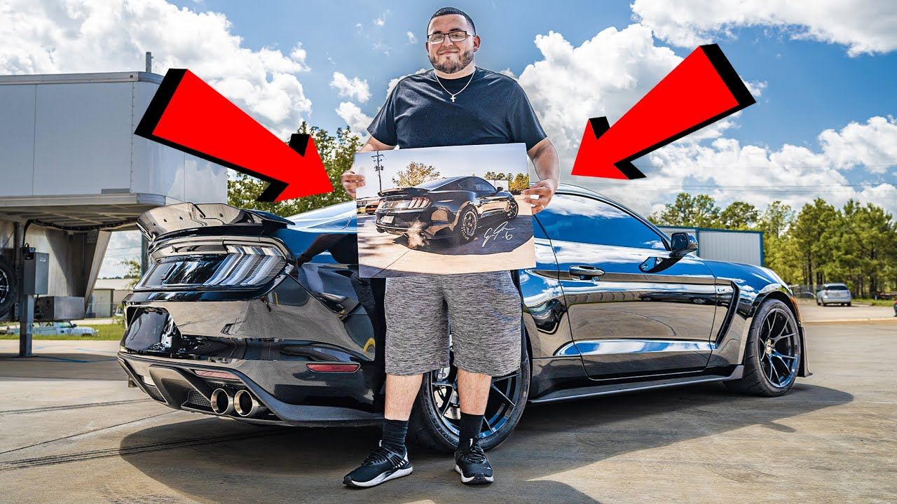 He Bought a Poster of My Car.. So I Gave It To Him!!
