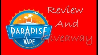 Giveaway Time!!!!  Paradise Vapes Creamy Caramel, Peach Bomb, Riptide, Monkey Tree