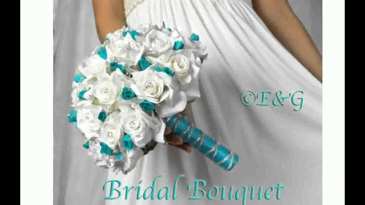 Silk Flower Bridal Bouquets Youtube