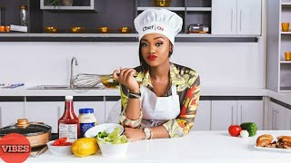 Chioma Burst Into Tears As She Prepares Her First Delicious Meals On Her Cooking Show