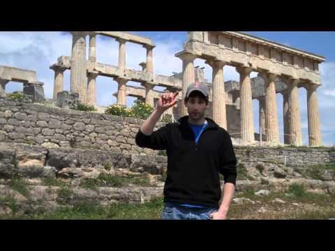 The Temple Of Aphaia At Aegina Island