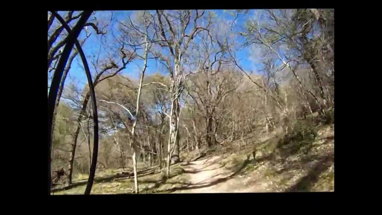 Mountain Bike Trails at Bamberger and OP Schnabel Parks San Antonio, Tx