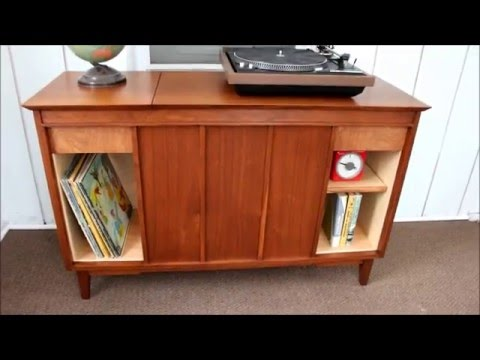 Vintage Stereo Cabinet Refinish/Repurpose - Vintage Stereo Cabinet Refinish/Repurpose - YouTube