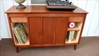 Vintage Stereo Cabinet Refinish/Repurpose