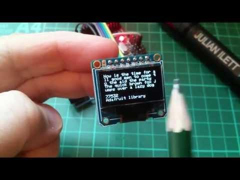 Tested: Display Libraries - Adafruit, u8glib, Homebrew Code - YouTube