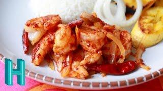 Camarones a la Diabla! Diablo Shrimp Recipe 🍤 Hilah Cooking