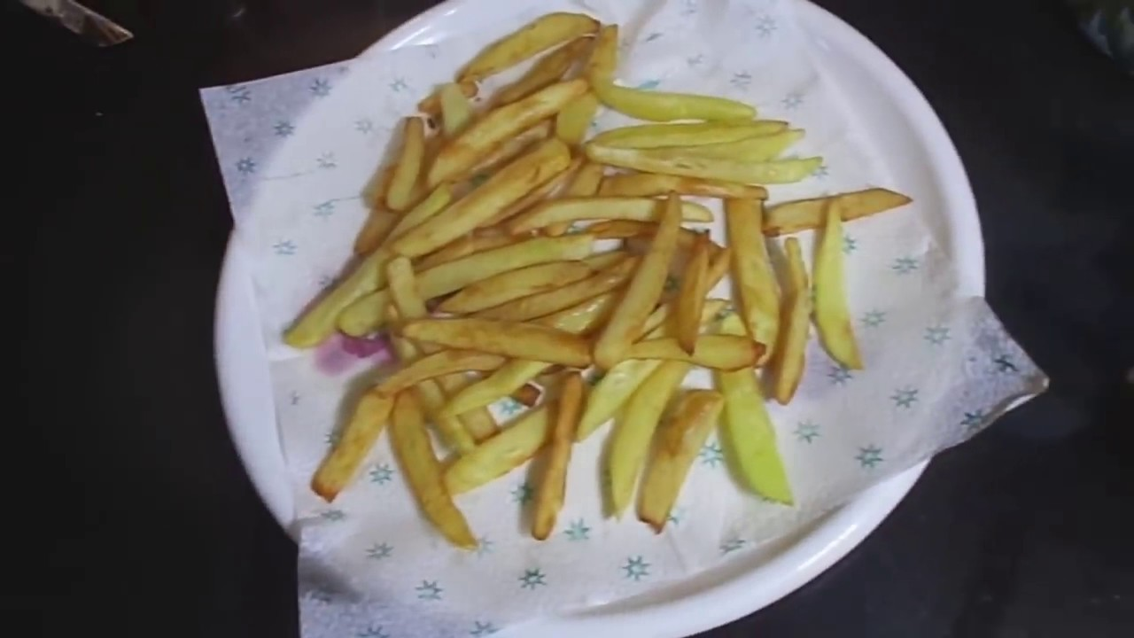How To Make French Fries At Home French Fries Recipe In Hindi Homemade Crispy French Fries