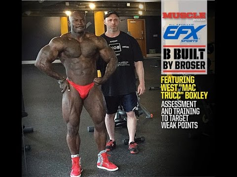 Eric Broser and West Boxley - Posing practice and Mini-workout