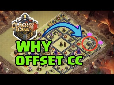 3 BIG REASONS to Consider an Offset/Non-Centralized Clan Castle | Clash of Clans War Base Strategy
