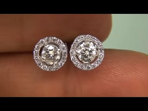 Tiffany Estate Liquidation 1 02 Carat Diamond Stud Earrings 14kt White Gold Ebay Auction See Video