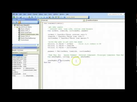 Loan Amortization using Excel VBA