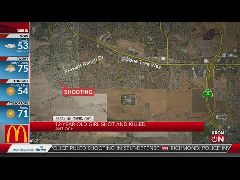 12-year-old girl dies after shooting in Antioch home