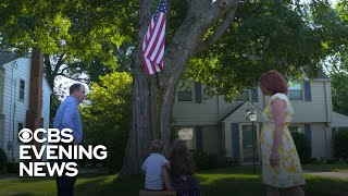 American flag-loving boy gets his own spot to admire its beauty