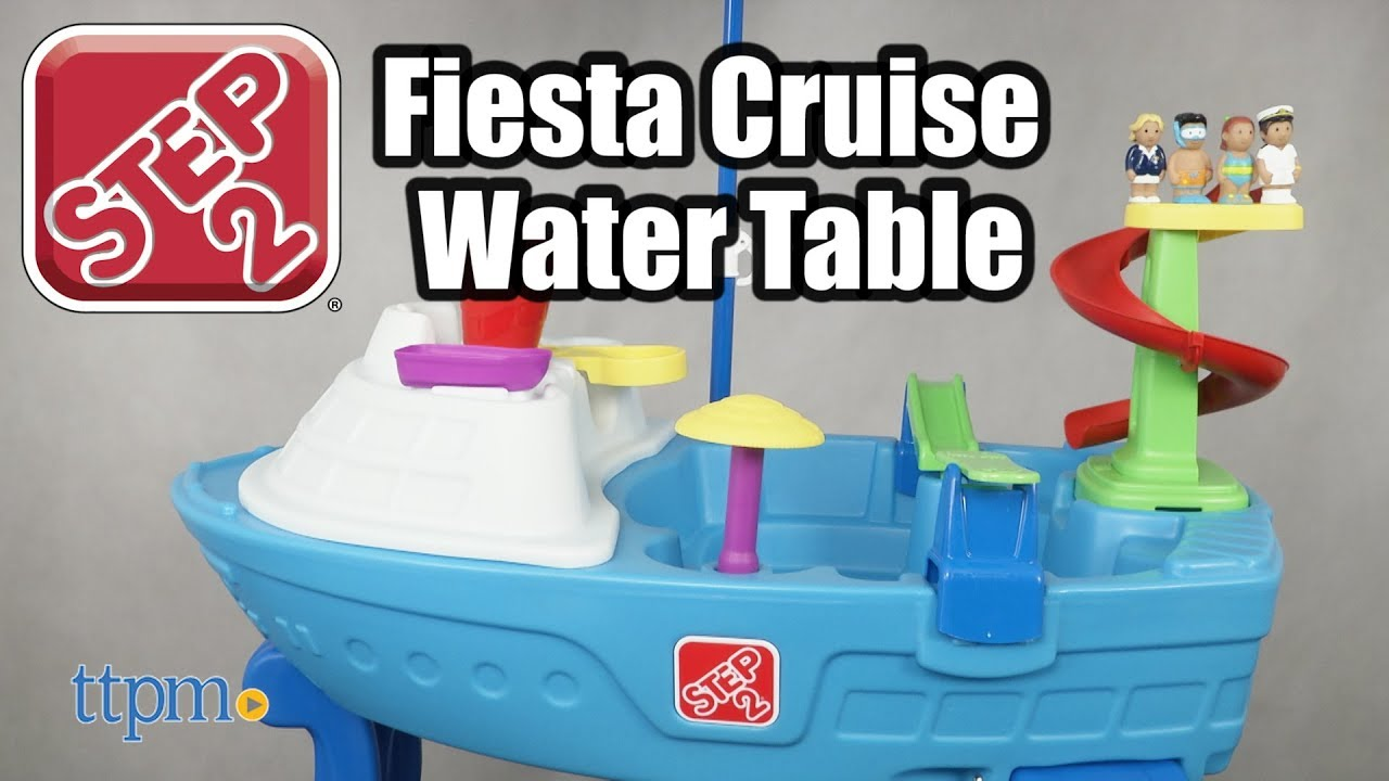 fiesta cruise sand water table with umbrella from step2 youtube. Black Bedroom Furniture Sets. Home Design Ideas