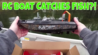 RC Boat Catches Fish!?! Fishing Challenge!