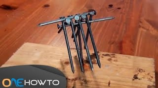 How to Balance 10 nails on 1 - Gravity Experiment