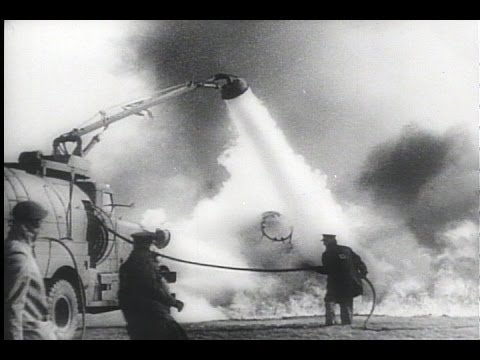 HD Historic Archival Stock Footage WWII - New Fire Fighting Equipment