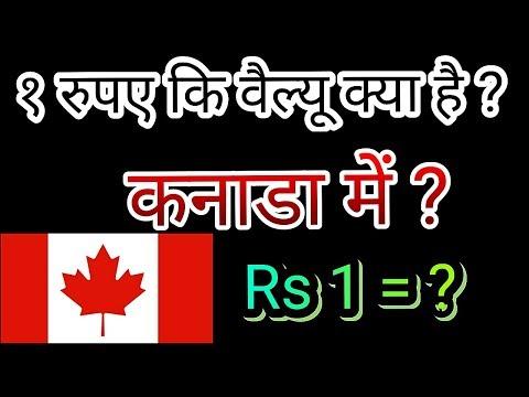 कनाडा में भारत के १ रुपए कि वैल्यू क्या है?  Canada Currency , Canadian Dollar ,