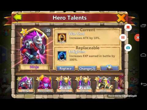 Castle Clash Refresh Hero Talent