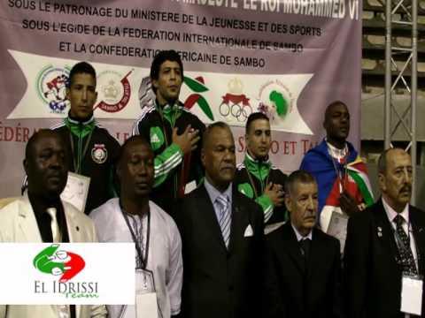 podium '' Gold Medal at the African Sambo Championship 2013 '' El idrissi Team