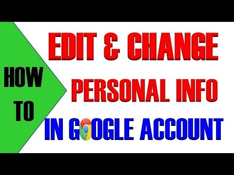 How to change your personal name on google account