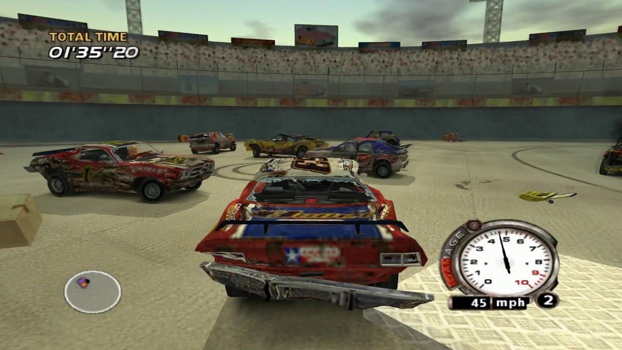 FlatOut PS2 Gameplay HD (PCSX2) - YouTube