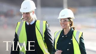 Princess Kate Middleton And Prince William Survey Construction Wearing Hard Hats | TIME
