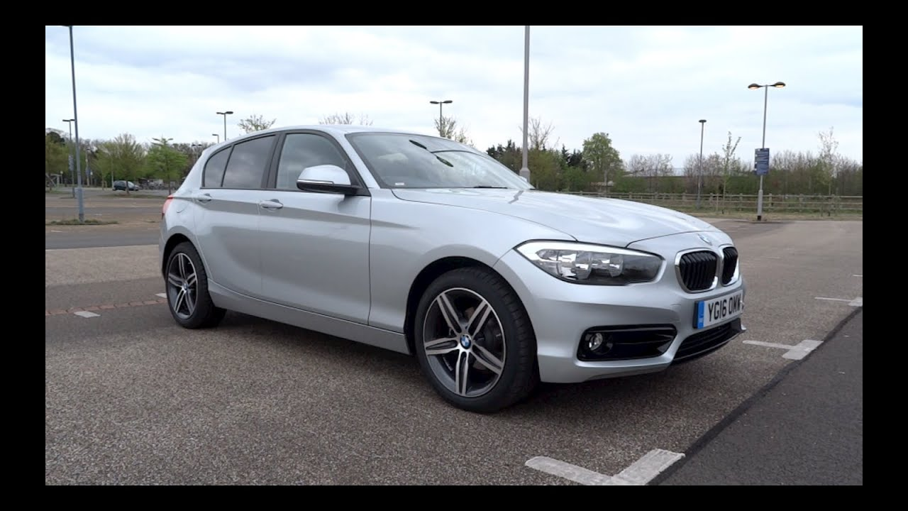 2016 bmw 118i sport line 5 door start up and full. Black Bedroom Furniture Sets. Home Design Ideas