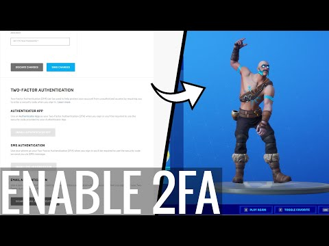 How To Enable 2FA FORTNITE! (PS4, XBOX, PC, Switch, Mobile) FREE Emote!