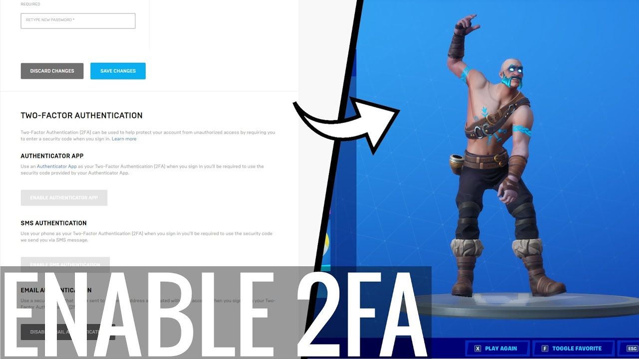 How to Enable 2FA FORTNITE! (PS4, XBOX, PC, Switch, Mobile ...