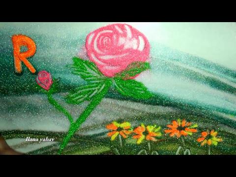 R- Sand Art for kids by Ilana Yahav - learn ABC