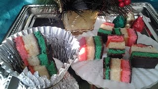 ✞ Italian Tre Colori Christmas 7 Layer/rainbow Cookies/ ✞
